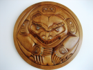 Circular Grizzly Bear Carving