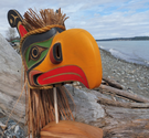 KOLUS Mask, Kwakiulth First Nation