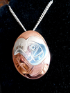 Eagle silver/copper pendant by Norm Seaweed