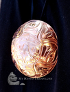 Copper Eagle Moon pendant
