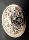 Sterling pendant, Richard Baker
