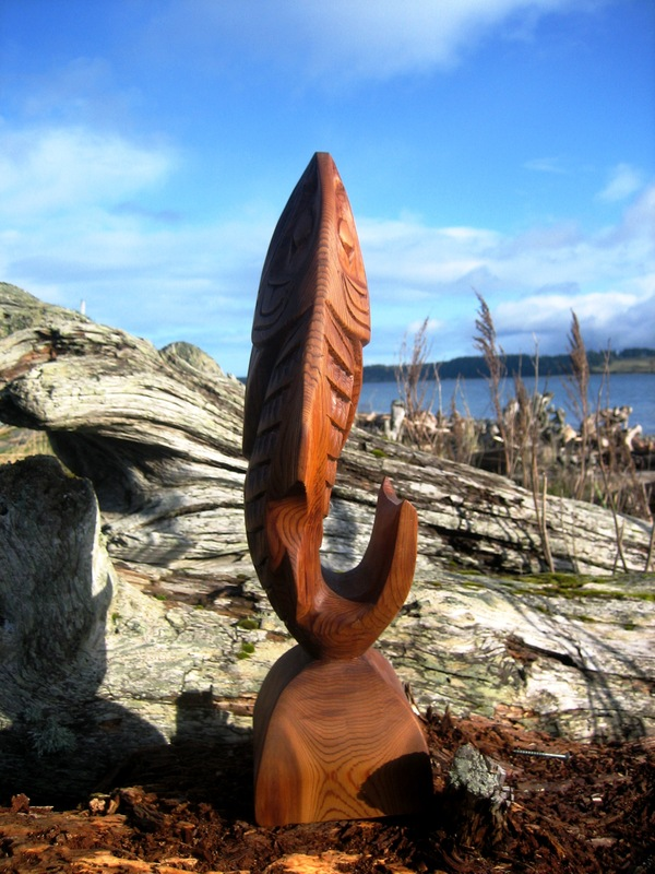 Salmon Sculpture (3D) by Alfred Robertson