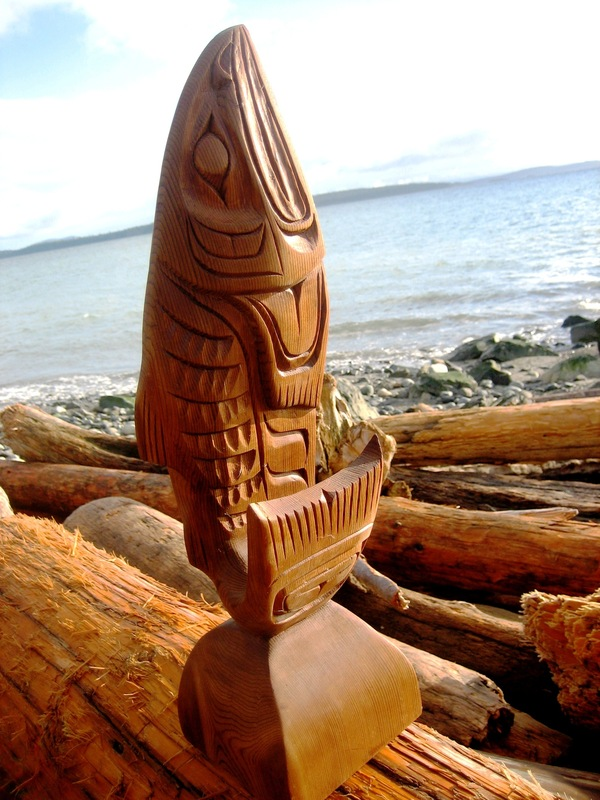 Salmon Sculpture 3d By Alfred Robertson My Mondo Trading First Nations Art Gallery