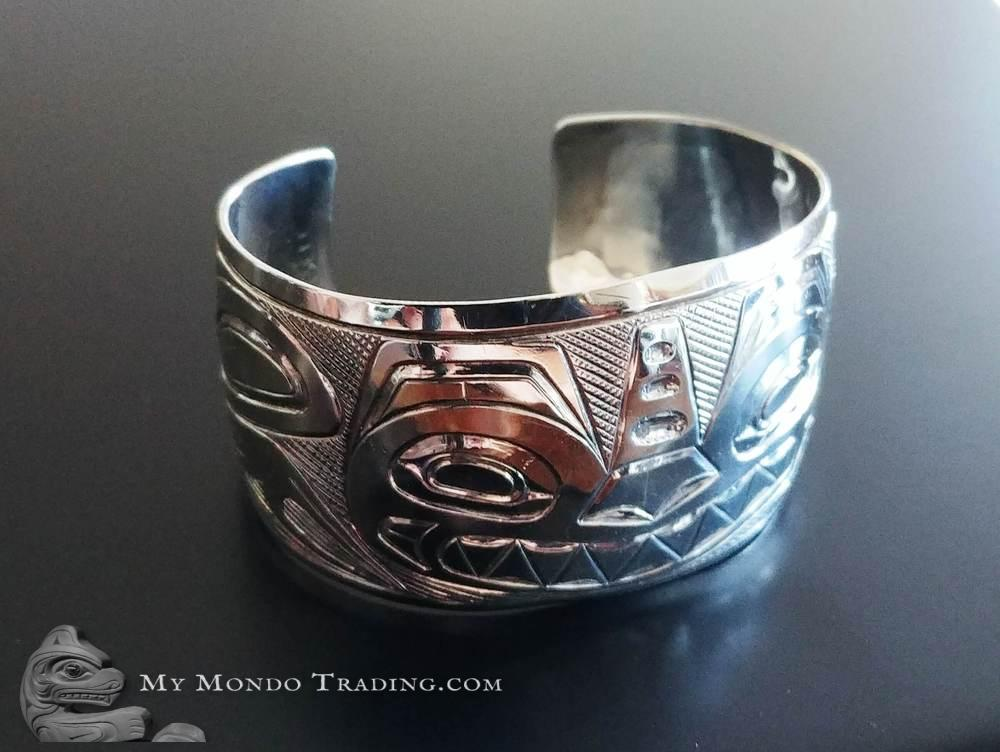 Sterling silver Sea monster cuff bracelet by L. Bell