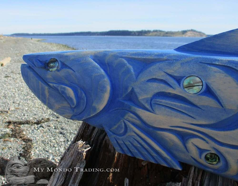 Salmon, inlaid, by Brian Bob