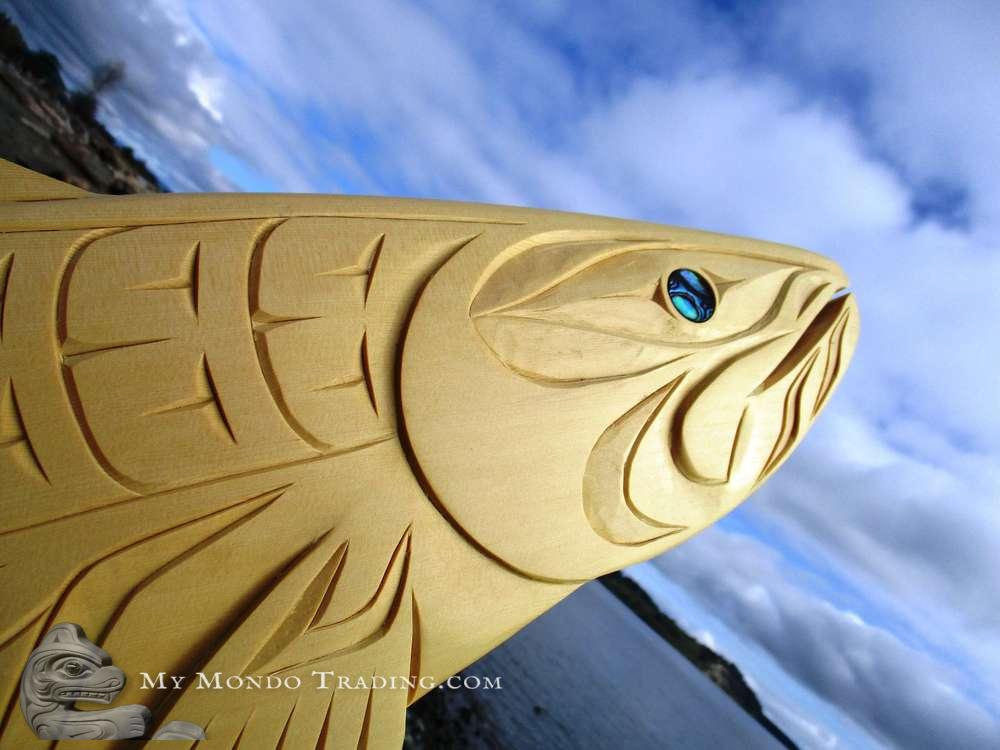 Large Salmon, inlaid, by Brian Bob