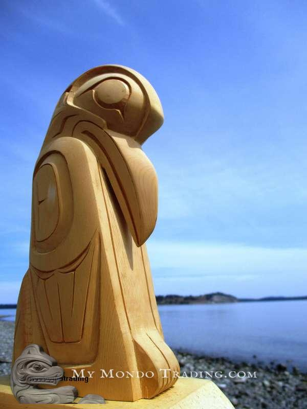 Haida Raven Sculpture by late Darrell LeBlanc