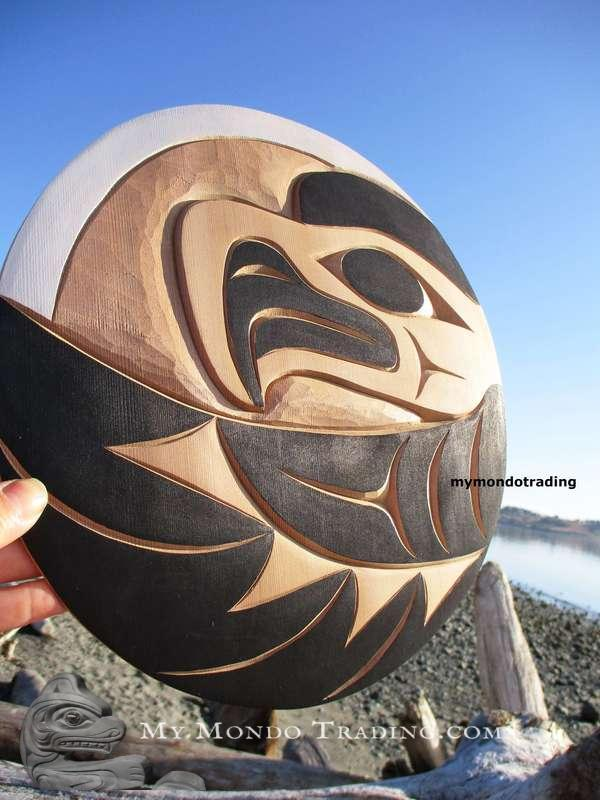 Cedar Eagle art carving by Doug Horne