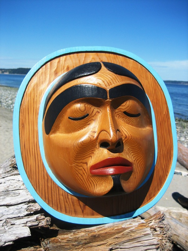 Sleeping Moon Crest Mask by Jim Johnny