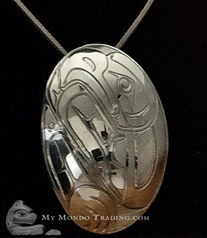 Sterling Silver EAGLE pendant by Norm Seaweed