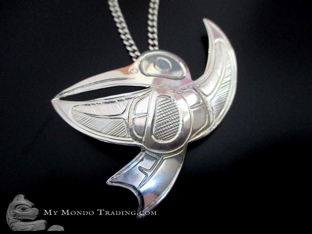 Sterling silver Hummingbird pendant, Bird of Love by Norm Seaweed