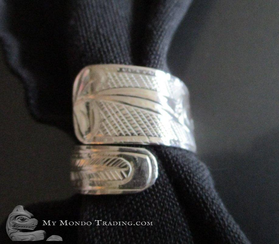 Sterling Silver Hummingbird wrap ring by Norm Seaweed