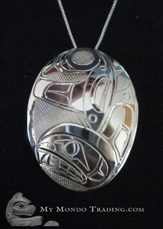 Sterling, ORCA / Killer Whale pendant by Norman Seaweed