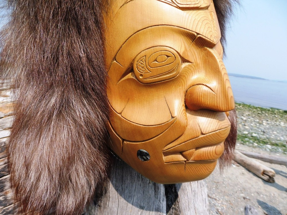 Wolf Spirit Mask by Ron Sager, Wolf Clan