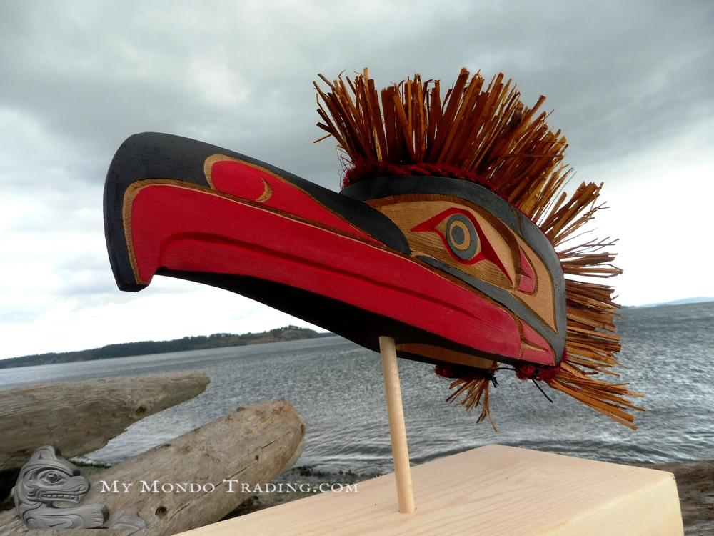 Eagle Model Mask on Stand by Sarah Robertson