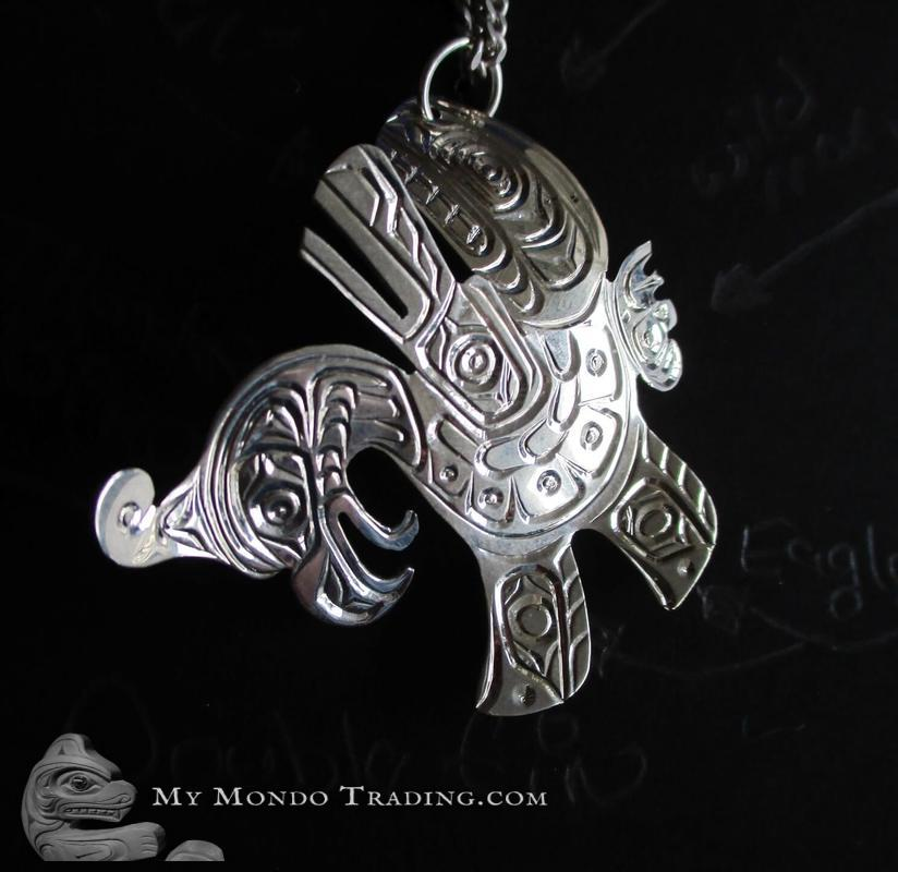 Multiple Character Sterling Silver pendant by Solomon Seward