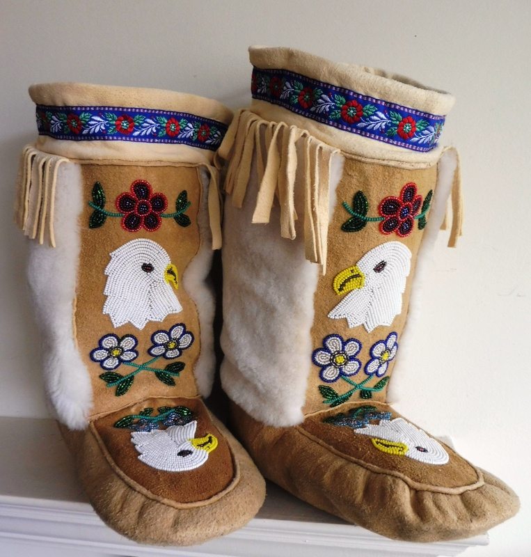 Gorgeous Pair of Mukluks, Tahltan Nation, Alaska