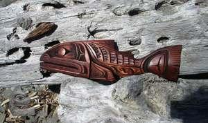 Salmon carving by Alfred Robertson
