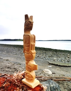 Totem Pole, Thunderbird over Whale by Darrell LeBlanc