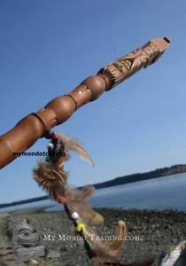 Haida Eagle Talking Stick by Donavon Gates