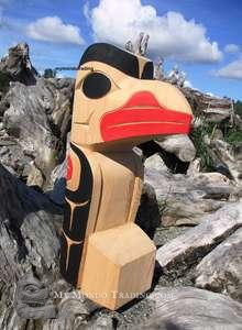 Cedar 3D Raven Sculpture by Doug Horne