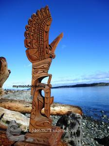 Eagle and Whale Totem Pole by Nancy Williams