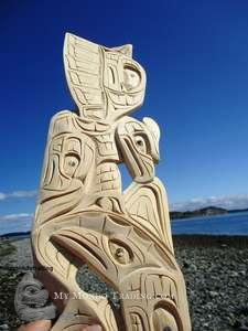 Thunderbird and Killer Whale by Nelson McCarty, Thompson Salish