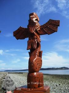 Model Totem Pole by Chief Norm Joseph