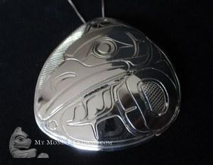 Sterling Silver Thunderbird pendant, large, by Norman Seaweed
