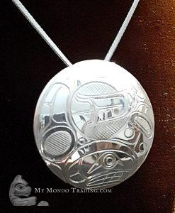 Sterling Silver KILLER WHALE pendant by Norm Seaweed