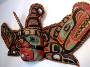5 ft large Sisiutl Mask by by Mervin Childs