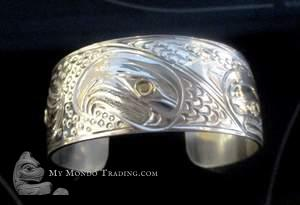 "Gold and silver ""Cycle of Life"" cuff bracelet by Paddy Seaweed"