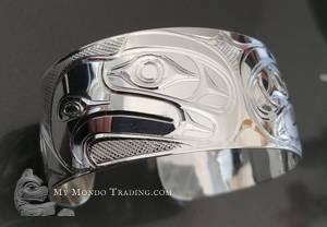 Sterling Silver, Double Eagle bracelet by Paddy Seaweed