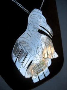 Sterling Silver Thunderbird Brooch/Pendant by Paddy Seaweed