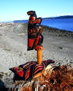 Thunderbird Rattle on Killer Whale Base, Rick Thomas