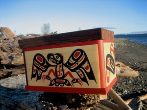 Chief Tony Hunt Sr. and David Mungo Knox Bentwood Box