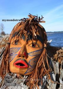 Shaman Mask by Vern Point, Chehailis First Nation