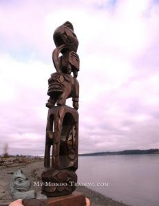 Vintage 1960's Totem Pole by Wesley Williams