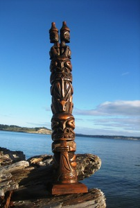 Vintage Totem Pole by Wilson Williams