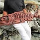 "47"" LARGE Salmon art carving by Alfred Robertson"