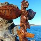 Superb quality Eagle and Killer Whale Totem Pole, Alfred Robertson