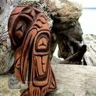 Beautiful sad Kwakiutl Raven by Alfred Robertson