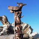 "1950-60's Model Totem Pole, 28"" by late Charlie Mickey"