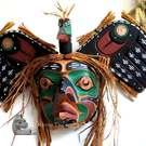 Loon mask, copper inlays, David M. Knox