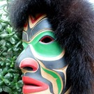 Warrior portrait Mask by Derald Scoular