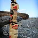 over 4 ft tall !!! Thunderbird and Bear Totem Pole by Doug Horne