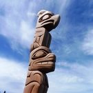 Thunderbird over Bear Totem Pole by Doug Horne