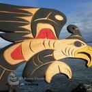 Thunderbird wall art carving by Doug Horne