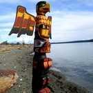 Large Totem Pole by Ernie Henderson