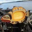 Yellow cedar Halibut feast bowl by John Henderson